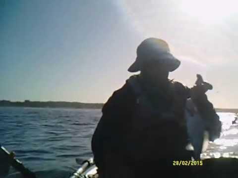 pesca en kayak en el chileno