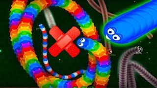 ИГРАЕМ В ВОРМАКС  НОВЫЕ СКИНЫ И ОГРОМНЫЕ ЧЕРВИ детская мульт игра Wormax io #УШАСТИК KIDS