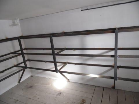 Как сделать полки в гараже своими руками