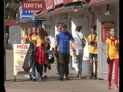 В Красноярске начался массовый переезд павильонов