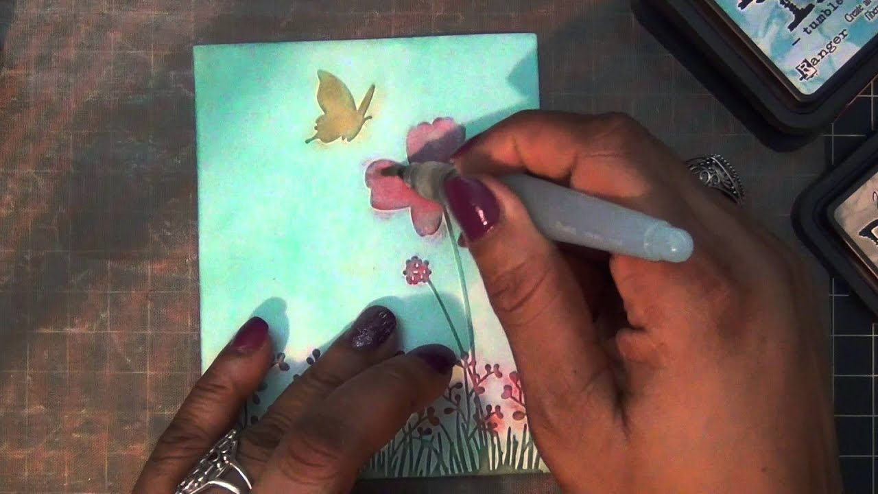 Attractive Card Making Ideas With Embossing Folders Part - 5: Darice Embossing Folder Card - Card #34 - YouTube