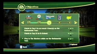 Tiger Woods PGA TOUR 12: The Masters, Wii - Career Progression and Sponsorships