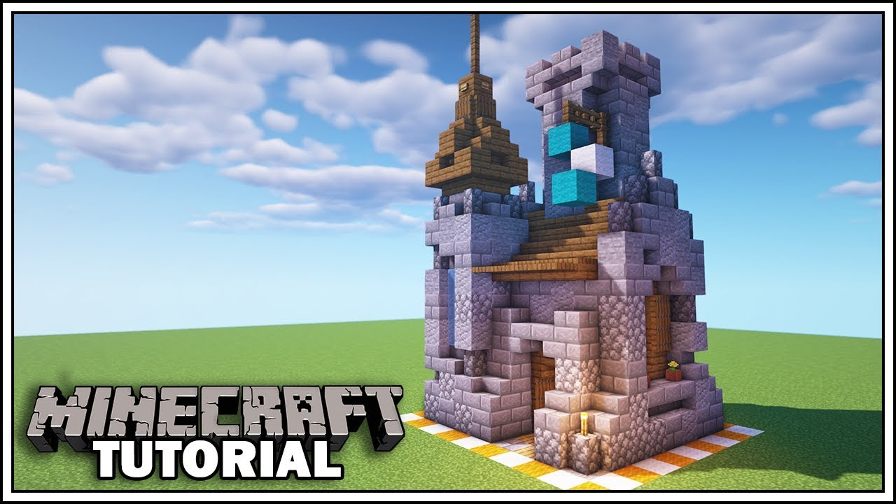 Minecraft 8x8 Castle Tutorial How To Build Youtube