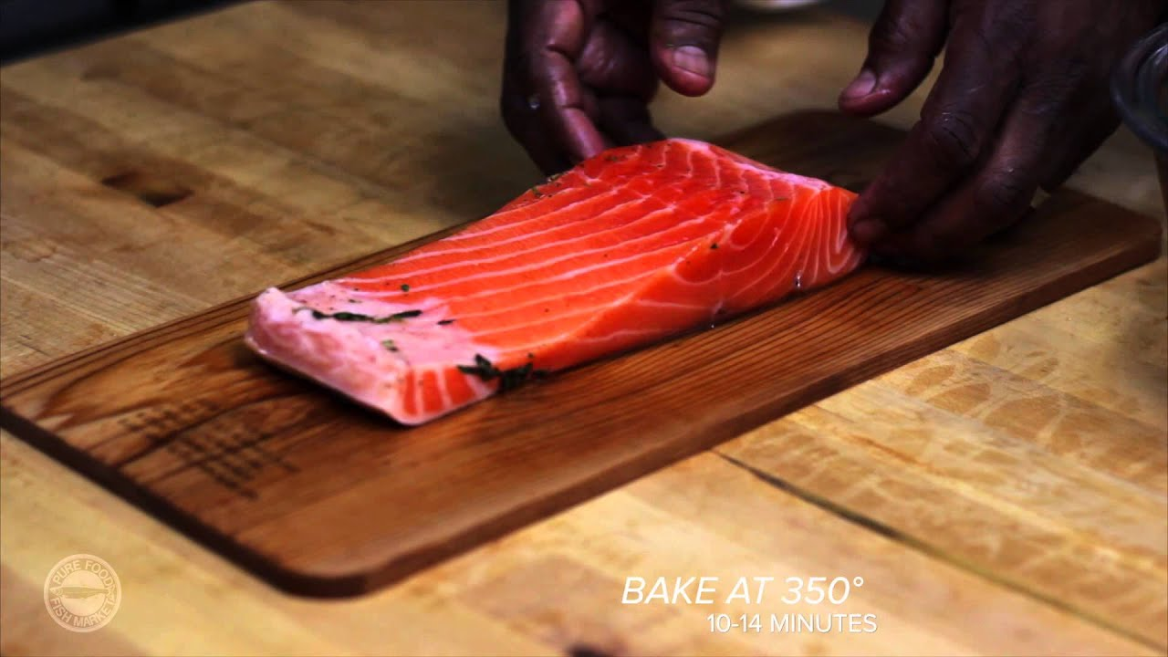Cedar plank oven baked fresh salmon youtube ccuart Image collections