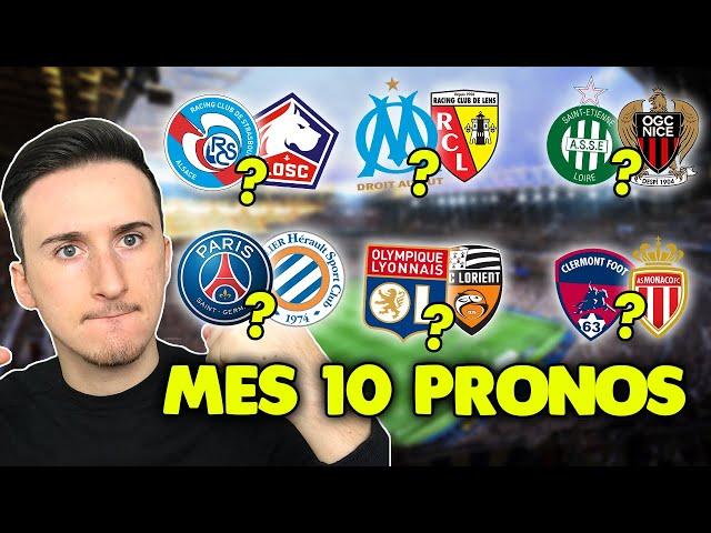 Pronostic foot LIGUE 1 : Mes 10 pronostics (Ligue 1) *épisode 8*
