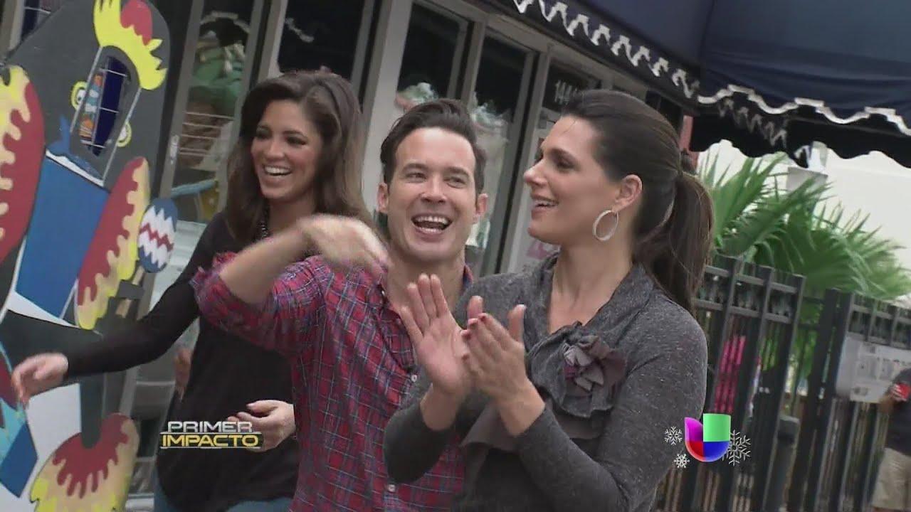 Bárbara Bermudo Y Pamela Silva Recorren La Famosa Calle 8 De Miami