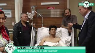 Başkanımız, Muhammed Tütüncü'yü hastanede ziyaret etti
