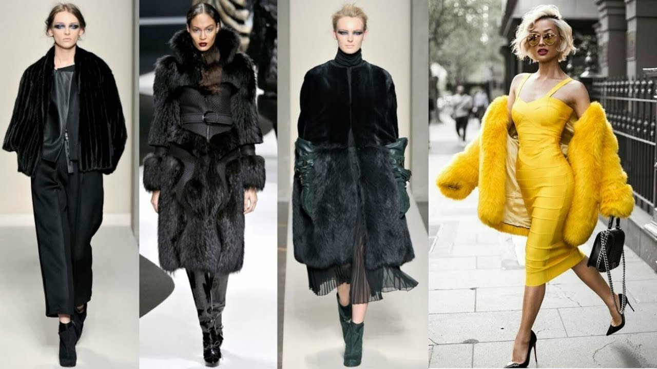 Fashionable fur coats fall-winter 2017-2018 29