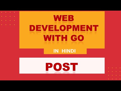 Web Development With Go   Hindi   Post Method