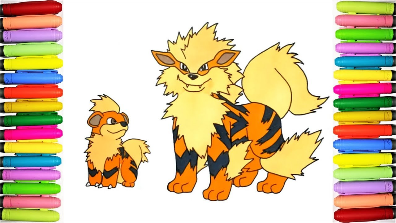 It is an image of Irresistible Growlithe Coloring Page