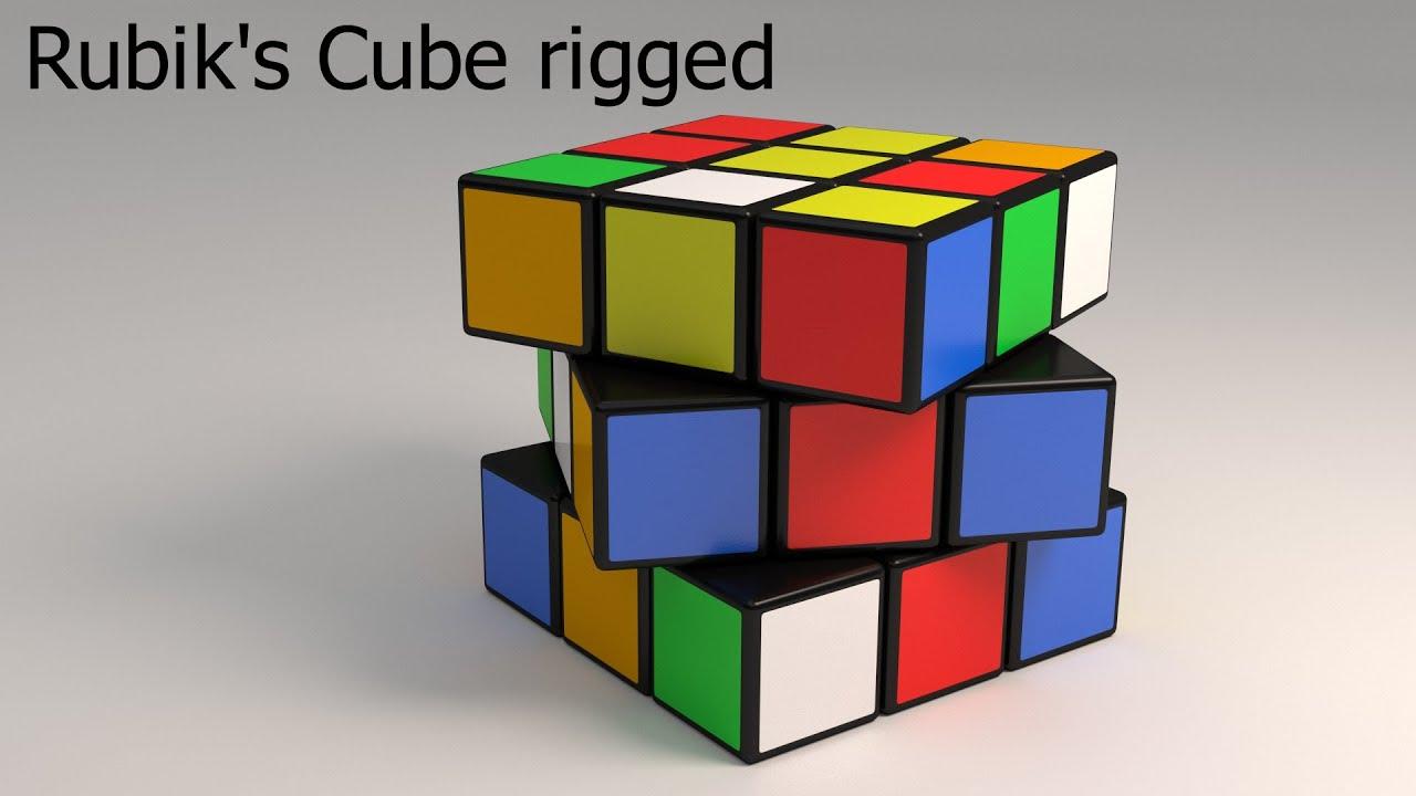 blender: rubik's cube python rig wip [english/hd] - youtube
