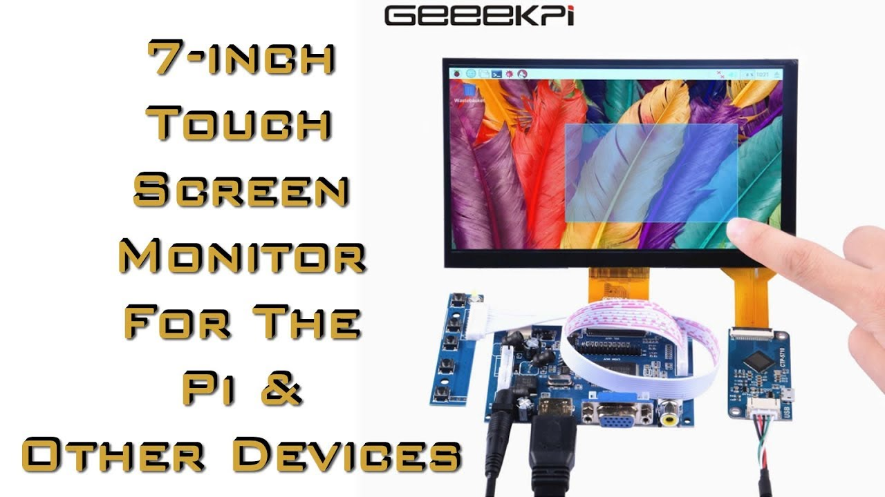 Geeekpi 7 Inch 1024x600 Capacitive Touch Screen Lcd Display Hdmi And Resistive Ic Monitor For Raspberry Pi Review