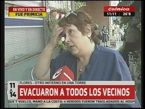Infierno en la Torre:  Por incendio evacuaron a todos los vecinos