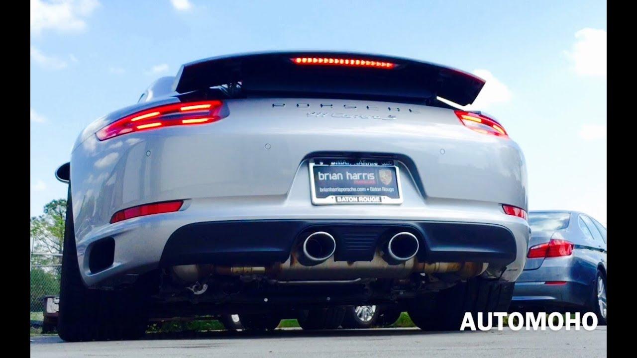 sound 2017 porsche 911 carrera s exhaust start up short drive