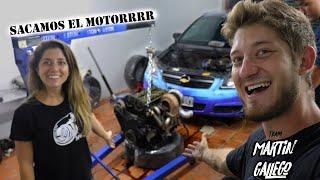 SACANDO EL MOTOR DEL VECTRA!!!