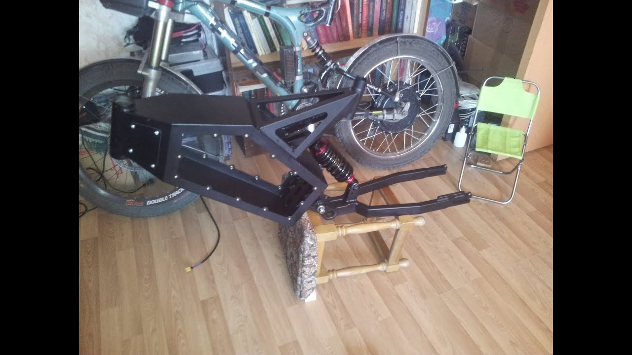 How to build e bike in 7 days dayone frame youtube for How to make an electric bike with a starter motor