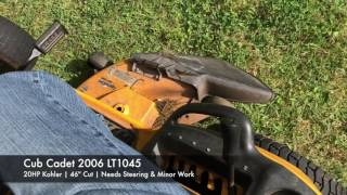 cub cadet 2006 lt1045 riding mower for sale