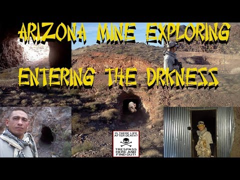 ARIZONA MINE SHAFT EXPLORING' ENTERING THE DARKNESS FULL OF TREASURE'