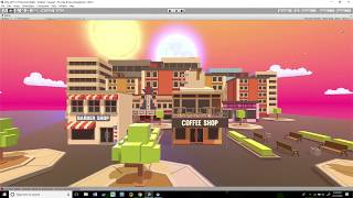 Designing a Virtual Reality Town Center in Unity 3D // TIMELAPSE 004 by theNientecDcu