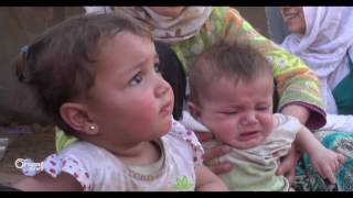 نازحو خان شيخون في أطمة يطالبون بتأمين احتياجاتهم