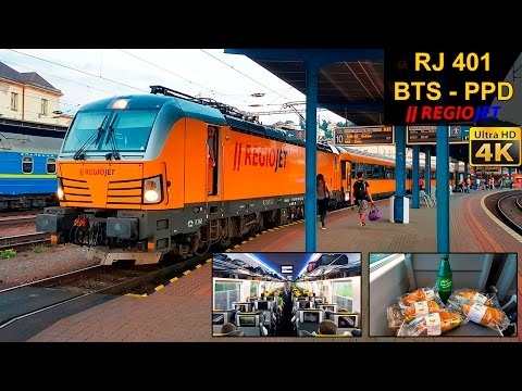 TRAIN EXPERIENCE | Bratislava - Poprad/Tatry | REGIOJET Intercity
