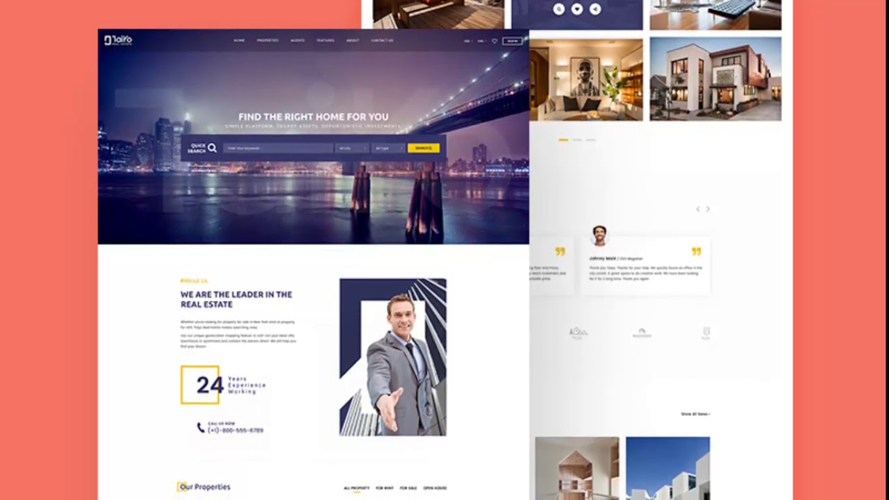 Photoshop Cs6 Free Download Taiyo Real Estate Website Template
