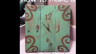 How To Make A Wood Pallet Clock On An Easel