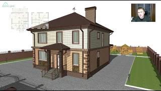 Небольшой двухэтажный жилой дом на 4 спальни «Моё удобство»  C-286-ТП(, 2017-09-28T09:09:44.000Z)