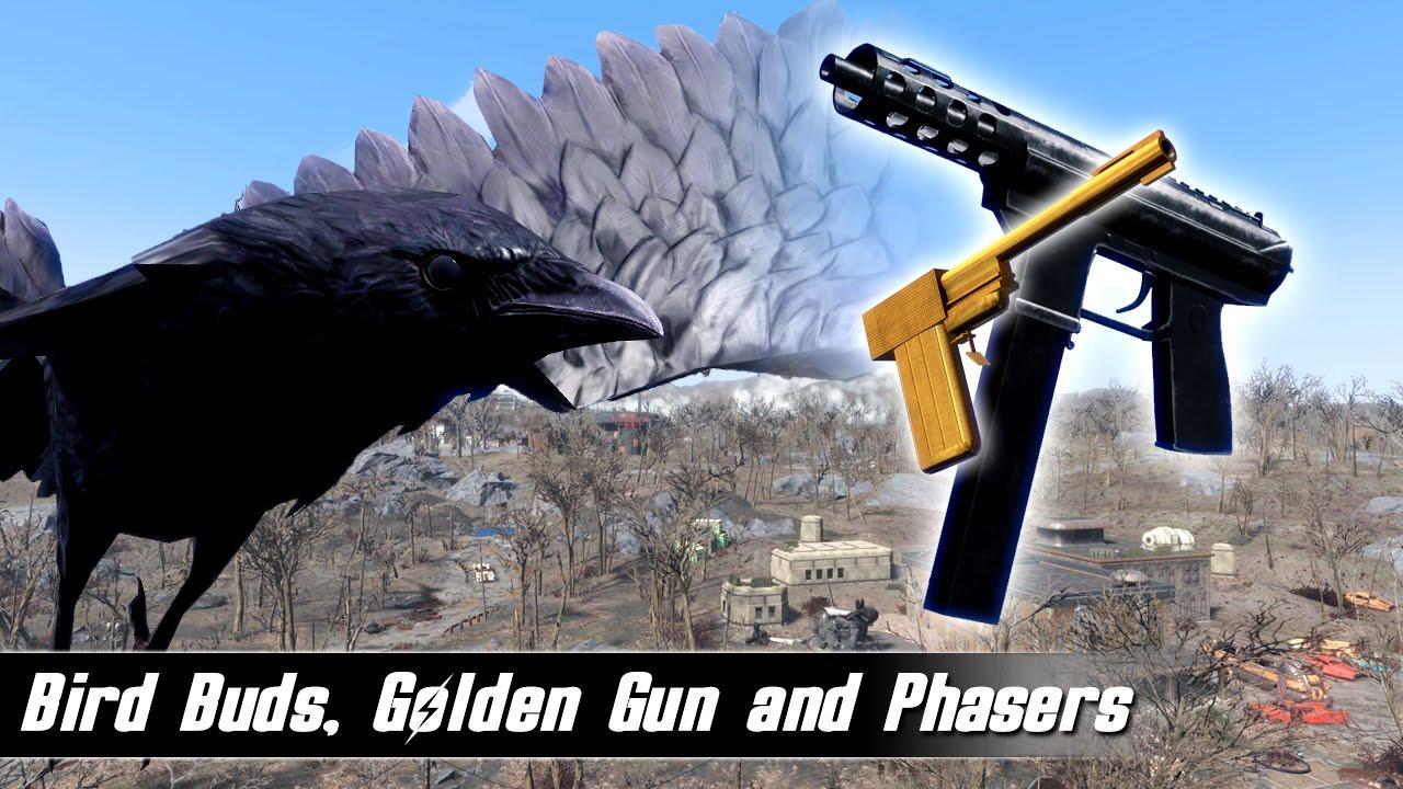 Fallout 4 Mods Week 29 - Bird Buds, Golden Gun and Phasers!