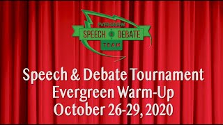 Advantage Evergreen Warm Up Speech and Debate Tournament 10-30-2020