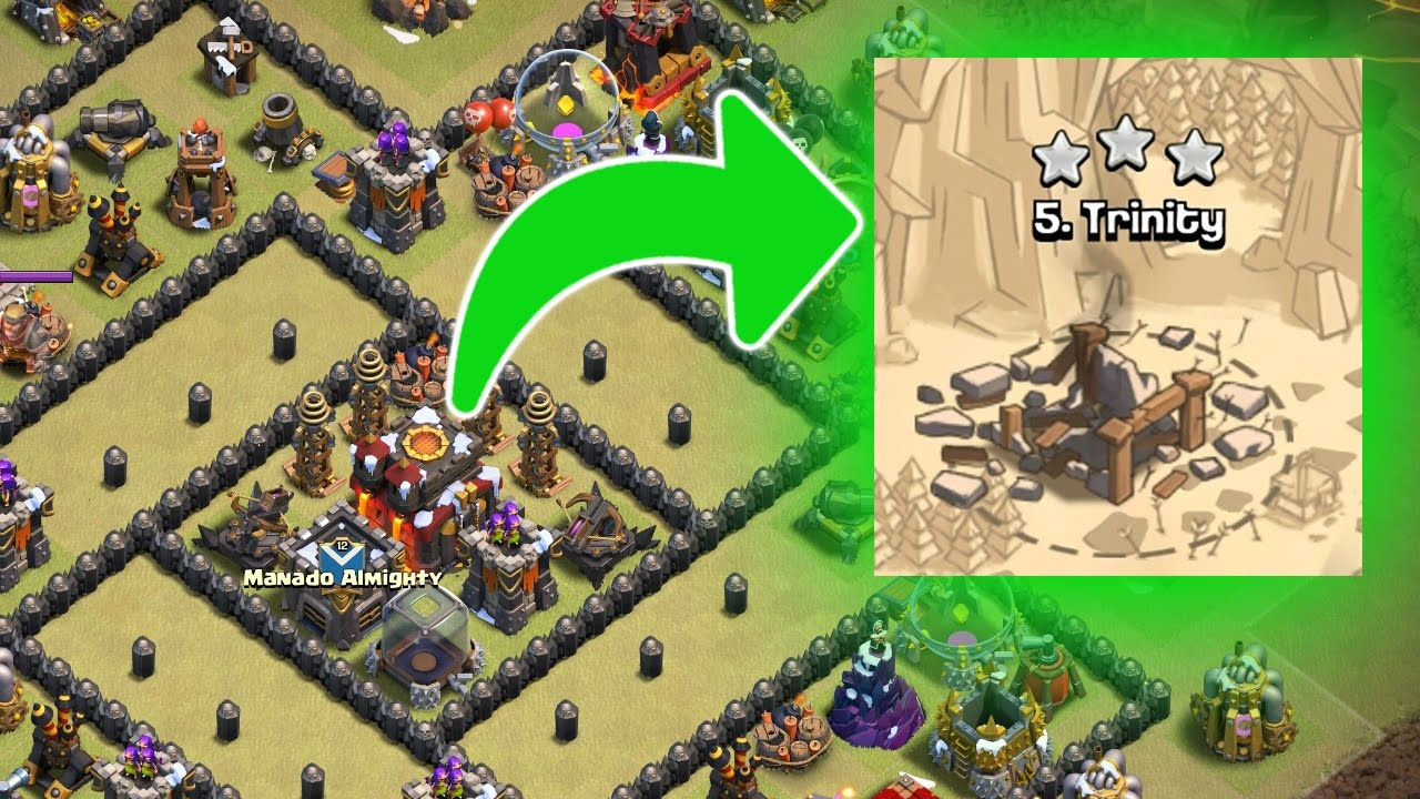 60 >> SERANG TRINITY - Menghancurkan Base Terkuat TH 9? - Clash Of Clans Indonesia - YouTube