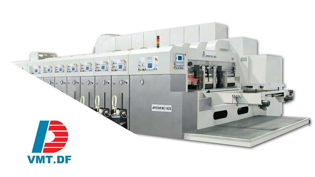 Color printing bobst - Apstar Hg 1624 Flexo Printer Rotary Die Cutter