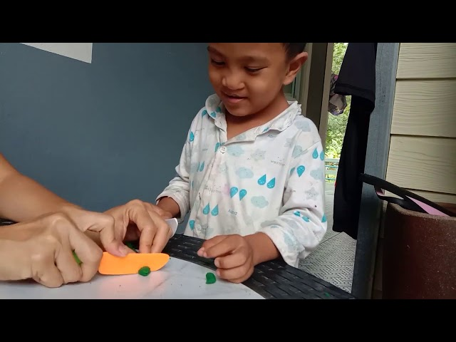 Cutting playdough