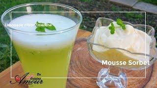 limonade citron et menthe, sorbet à l&#39orange en mousse au thermomix