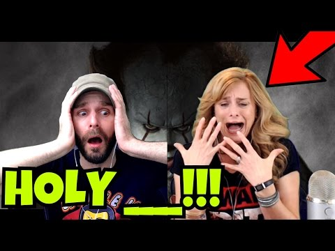 IT MOVIE OFFICIAL TRAILER REACTION! MY MOM CANT HANDLE THIS!!!