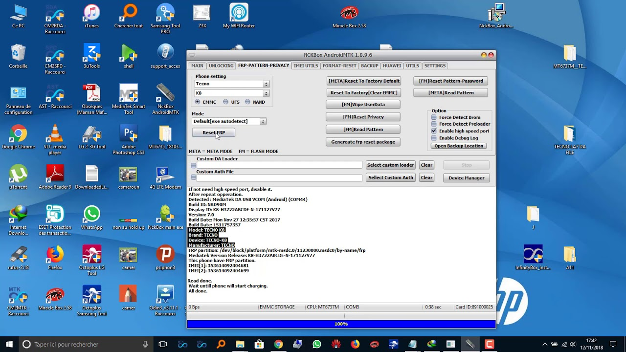 Download TECNO LA6 FRP BYPASS NCK