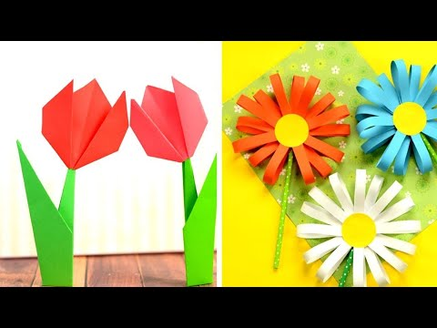 flower-crafts-with-paper---paper-crafts-for-kids