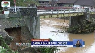 Jembatan Penghubung di Tasikmalaya Putus karena Banjir, Pemerintah Kirim Jembatan Sementara - Fokus