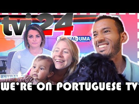 WE'RE ON PORTUGUESE TV! 🎥 tvi24 INTERVIEW 🎥 ESTRANGEIROS EM PORTUGAL