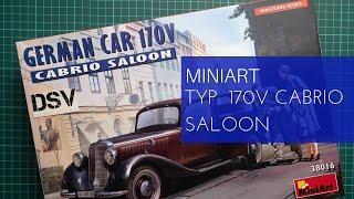 сборная модель MiniArt Staff Car Type 170V Cabriolet B (1:35) обзор