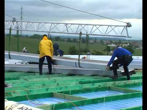 Zambelli Rib Roof Speed 500 Baustellenprofilierung Youtube