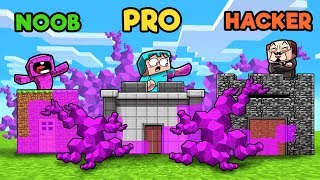 Minecraft - BACTERIA BASE WARS! (NOOB vs PRO vs HACKER)