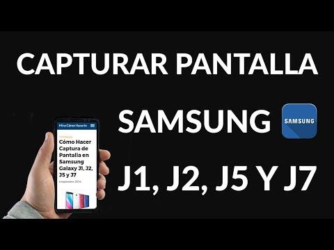 Cómo Hacer Captura de Pantalla en Samsung Galaxy J1, J2, J5 y J7