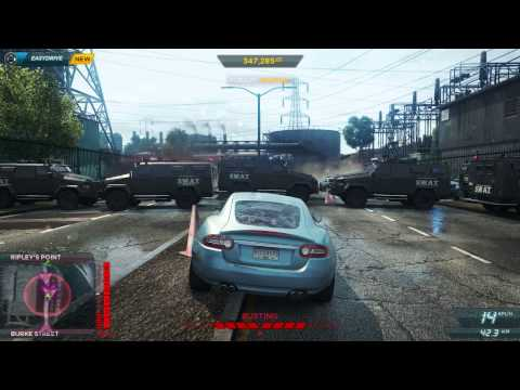 Taunting the cops in Need For Speed: Most Wanted
