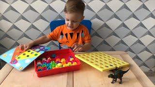 Мозаика для малышей «Alex toys button art» обзор. Игрушка для детей