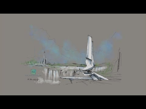 how to draw futuristic tower: daily sketches in 20 minutes thumbnail
