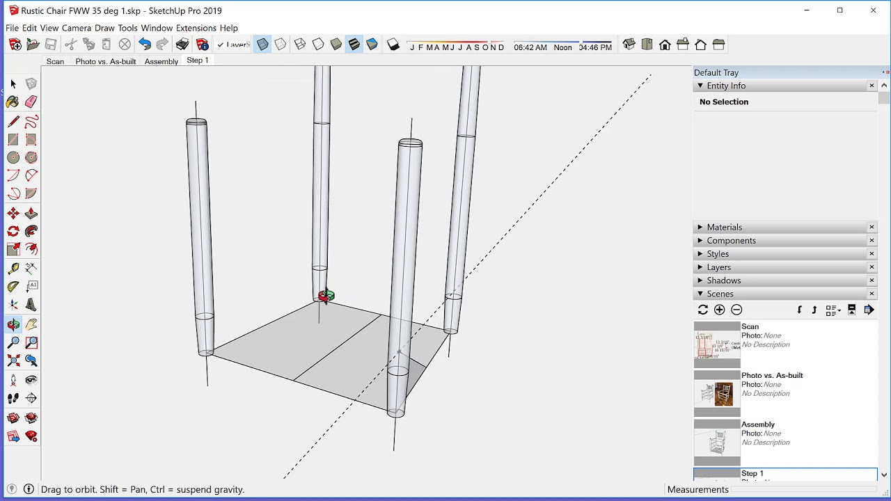 Modeling a Rustic Chair in SketchUp - FineWoodworking
