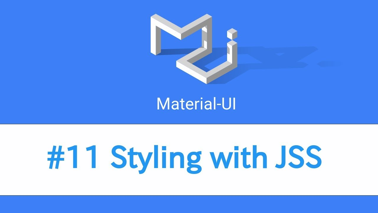 Learn React & Material UI - #11 Styling with JSS