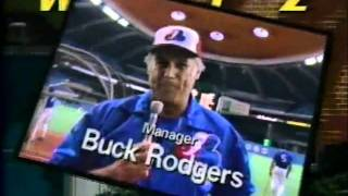 1988 Buck Rodgers Montreal Expos WPTZ Promo Commercial