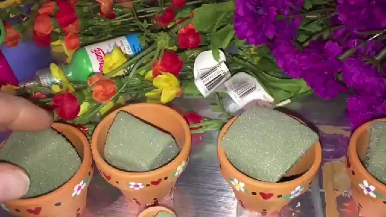 YouTube & Doll House Miniature Flower Pot Arrangements / TIPS \u0026 IDEAS / Use for Centerpieces \u0026 Decor too